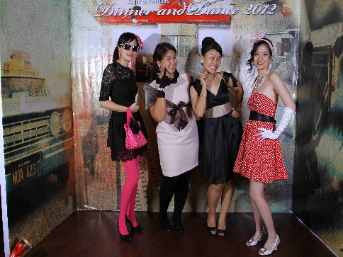 2012  Annual Dinner with  Retro  theme   New Orleans Bar   Grill  Sunway  Resort Hotel   Spa. Albar   Partners